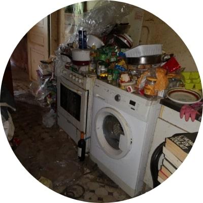 Syndrome de Diogène logement insalubre ajp groupe enlève et gère les déchets désinfection logement à plaisir et dans les yvelines 78